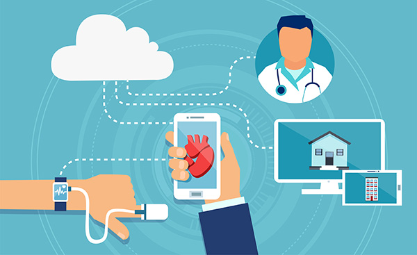vector-of-a-modern-health-care-devices-tracking-patient-heart-rate